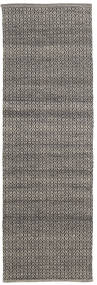 Alva - Ruskea/Musta Matto 80X250 Moderni Käsinkudottu Käytävämatto Tummanharmaa/Vaaleanharmaa (Villa, Intia)