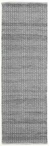 Alva - Harmaa/Musta Matto 80X250 Moderni Käsinkudottu Käytävämatto Tummanharmaa/Vaaleanharmaa (Villa, Intia)
