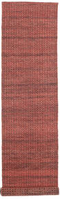 Alva - Dark_Rust/Black Rug 80X350 Authentic  Modern Handwoven Hallway Runner  Brown/Rust Red (Wool, India)