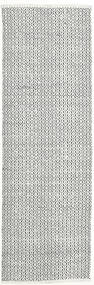 Alva - White/Black Rug 80X250 Authentic  Modern Handwoven Hallway Runner  Light Grey/Beige (Wool, India)