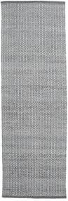 Alva - Tummanharmaa/Valkoinen Matto 80X250 Moderni Käsinkudottu Käytävämatto Vaaleanharmaa/Valkoinen/Creme (Villa, Intia)