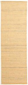 Alva - Dark _Gold/White Rug 80X250 Authentic  Modern Handwoven Hallway Runner  Light Brown/Dark Beige (Wool, India)