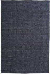 Alva - Blå/Svart Teppe 200X300 Ekte Moderne Håndvevd Mørk Blå/Mørk Grå (Ull, India)