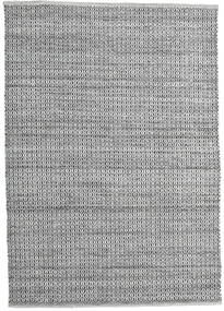 Alva - Grey/Black Rug 160X230 Authentic  Modern Handwoven Light Grey/Dark Grey (Wool, India)