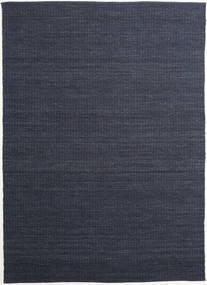 Alva - Sininen/Musta Matto 250X350 Moderni Käsinkudottu Tummansininen/Tummanharmaa Isot (Villa, Intia)