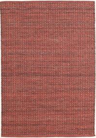 Alva - Dark_Rust/Czarny Dywan 140X200 Nowoczesny Tkany Ręcznie Ciemnoczerwony/Rdzawy/Czerwony (Wełna, Indie)