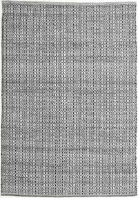 Alva - Grey/Black Rug 140X200 Authentic  Modern Handwoven Light Grey/Dark Grey (Wool, India)