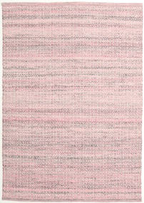 Alva - Pink/White Rug 140X200 Authentic  Modern Handwoven Light Pink/Beige (Wool, India)