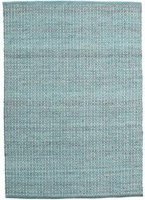 Alva - Turquesa/Branco Tapete 140X200 Moderno Tecidos À Mão Azul/Branco/Creme (Lã, Índia)