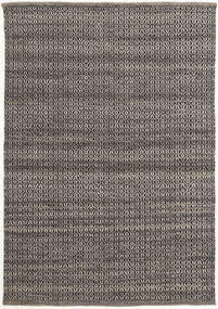 Alva - Brown/Black Rug 140X200 Authentic  Modern Handwoven Dark Grey/Light Grey (Wool, India)