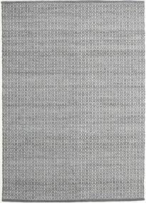 Alva - Dark Grey/White Ковер 140X200 Современный Сотканный Вручную Светло-Серый/Темно-Серый (Шерсть, Индия)