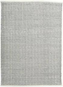 Alva - White/Черный Ковер 140X200 Современный Сотканный Вручную Бежевый/Темно-Серый/Светло-Серый (Шерсть, Индия)