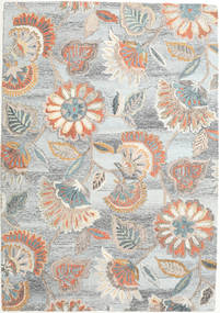 Rusty Flowers - Grey/Rust Rug 160X230 Modern Light Grey/Beige (Wool, India)