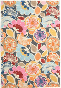 Flower Power - Multi Tapis 200X300 Moderne Bleu/Orange (Laine, Inde)