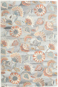 Rusty Flowers - Grey/Rust Rug 200X300 Modern Light Grey/Beige (Wool, India)