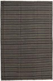 Kilim Rug 200X300 Authentic  Oriental Handwoven Dark Grey (Wool, Persia/Iran)