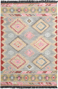Tyra Rug 160X230 Authentic  Modern Handwoven Light Grey/Light Pink (Wool, India)