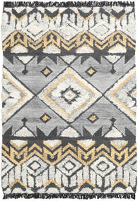 Deco Rug 140X200 Authentic  Modern Handwoven Light Grey/Dark Beige/Dark Grey (Wool, India)