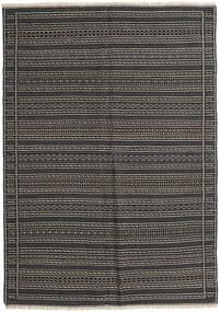 Kilim Rug 159X222 Authentic  Oriental Handwoven Dark Grey/Black (Wool, Persia/Iran)