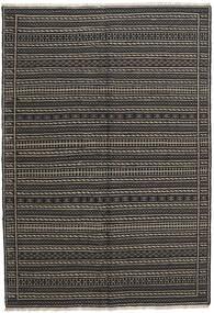 Chilim Covor 156X230 Orientale Lucrate De Mână Gri Închis/Negru (Lână, Persia/Iran)