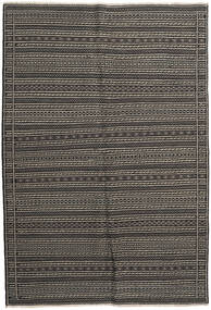 Kilim Rug 160X236 Authentic  Oriental Handwoven Dark Grey/Light Grey (Wool, Persia/Iran)