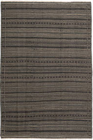 Kilim Persia Rug 200X300 Authentic  Oriental Handwoven Black/Light Brown/Dark Grey (Wool, Persia/Iran)