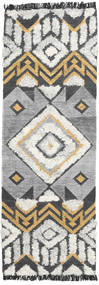 Deco Rug 80X250 Authentic  Modern Handwoven Hallway Runner  Light Grey/Dark Grey (Wool, India)