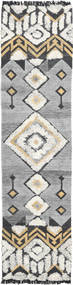 Deco Rug 80X350 Authentic  Modern Handwoven Hallway Runner  Light Grey/Dark Beige (Wool, India)