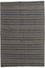 Kelim Persia Matto 160X230 Itämainen Käsinkudottu Tummanharmaa/Musta/Vaaleanharmaa (Villa, Persia/Iran)