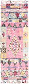 Fanny Rug 80X250 Authentic  Modern Handwoven Hallway Runner  Light Pink/Beige (Wool, India)