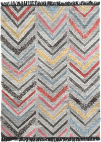 Zigzag Rug 140X200 Authentic  Modern Handwoven Light Grey/Beige (Wool, India)