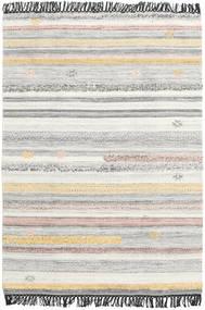 Ragna 絨毯 140X200 モダン 手織り 薄い灰色/ベージュ (ウール, インド)
