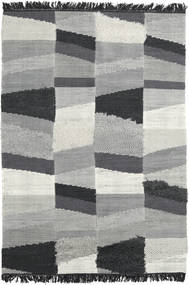 Viola - Grey/Black Rug 140X200 Authentic  Modern Handwoven Light Grey/Turquoise Blue (Wool, India)