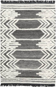 Arrow Teppich  120X180 Echter Moderner Handgewebter Dunkelgrau/Beige (Wolle, Indien)