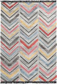 Zigzag Rug 250X350 Authentic  Modern Handwoven Light Grey/Dark Grey Large (Wool, India)