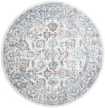Granada - Blå Teppe Ø 200 Moderne Rundt Lyselilla/Beige ( Tyrkia)