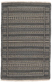 Kilim Rug 80X125 Authentic  Oriental Handwoven Black/Dark Grey/Light Grey (Wool, Persia/Iran)