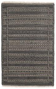 Kilim Rug 80X125 Authentic  Oriental Handwoven Black/Dark Grey/Light Grey (Wool, Persia/Iran)