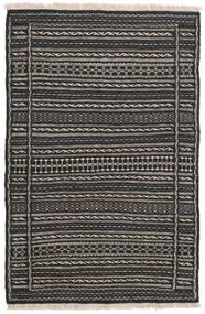 Kelim Matto 81X123 Itämainen Käsinkudottu Tummanharmaa/Musta (Villa, Persia/Iran)