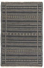Kelim Persia Matto 80X130 Itämainen Käsinkudottu Musta/Tummanharmaa/Vaaleanharmaa (Villa, Persia/Iran)