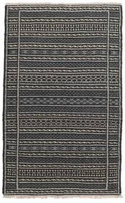 Kelim Persia Matto 80X130 Itämainen Käsinkudottu Tummanharmaa/Musta (Villa, Persia/Iran)