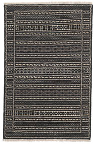 Kilim Perzsa Szőnyeg 80X130 Keleti Kézi Szövésű Fekete/Sötétszürke (Gyapjú, Perzsia/Irán)