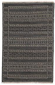 Kilim Persia Rug 80X130 Authentic  Oriental Handwoven Black/Dark Grey (Wool, Persia/Iran)
