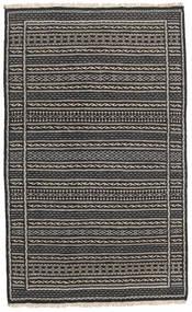 Kelim Matto 80X131 Itämainen Käsinkudottu Musta/Tummanharmaa/Vaaleanharmaa (Villa, Persia/Iran)