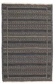 Kelim Teppe 78X123 Ekte Orientalsk Håndvevd Svart/Mørk Grå (Ull, Persia/Iran)