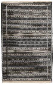 Kelim Persia Teppe 80X130 Ekte Orientalsk Håndvevd Svart/Mørk Grå (Ull, Persia/Iran)