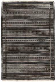 Килим Ковер 103X154 Сотканный Вручную Темно-Серый/Черный (Шерсть, Персия/Иран)