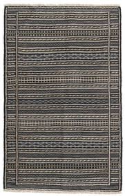 Kilim Rug 98X155 Authentic  Oriental Handwoven Dark Grey/Black/Light Grey (Wool, Persia/Iran)