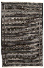 Kelim Teppe 103X156 Ekte Orientalsk Håndvevd Svart/Mørk Grå/Lys Grå (Ull, Persia/Iran)
