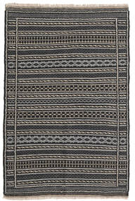 Kilim Rug 100X153 Authentic  Oriental Handwoven Dark Grey/Black/Light Grey (Wool, Persia/Iran)